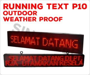 running text led p10