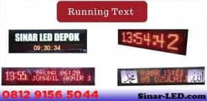 Daftar Harga Running Text Terbaru