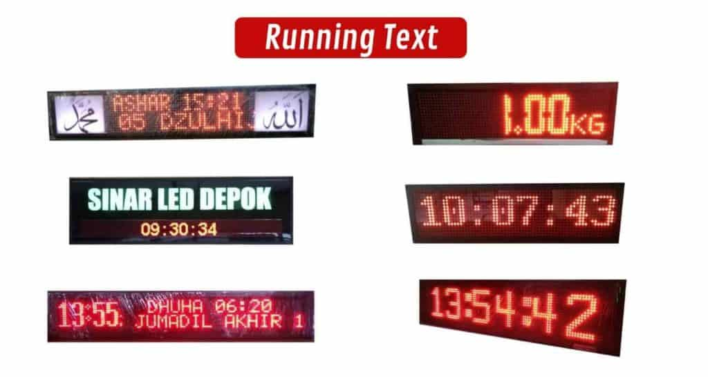Jual Running Text Murah